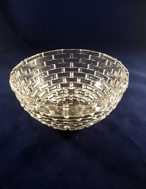 Basket Weave Style Glass Bowl - The Other Alley