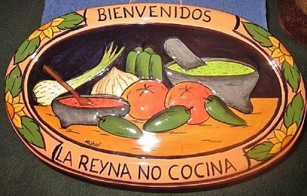 Terra Cotta Kitchen Wall Hanging In Spanish - The Other Alley