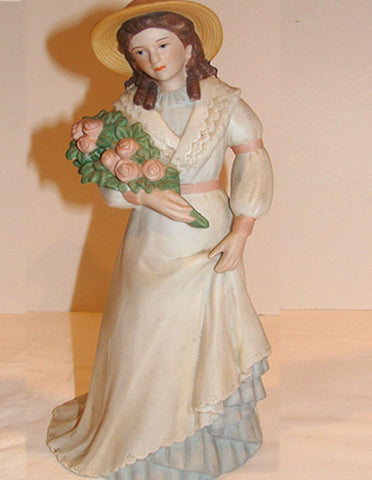 Homco Lady Figurine  #1468 - The Other Alley