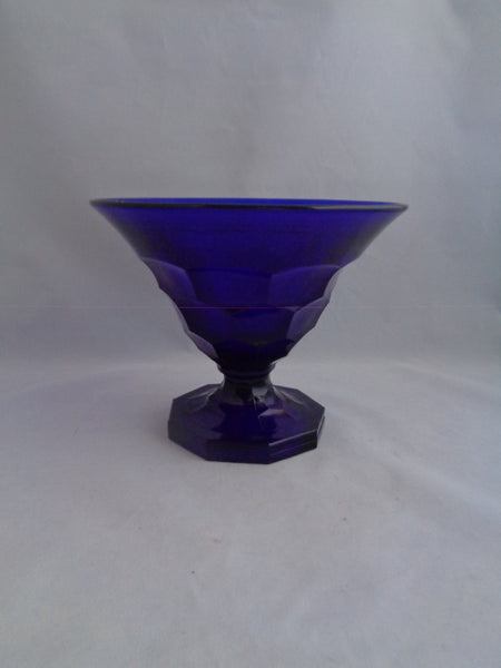 Viking Georgian Cobalt Pedestal Bowl - The Other Alley