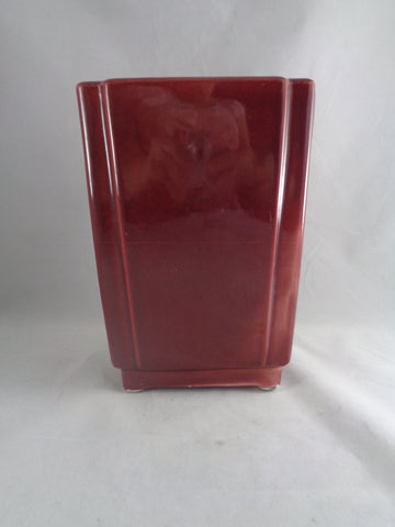 Burnt Brown Rectangular Vase - The Other Alley