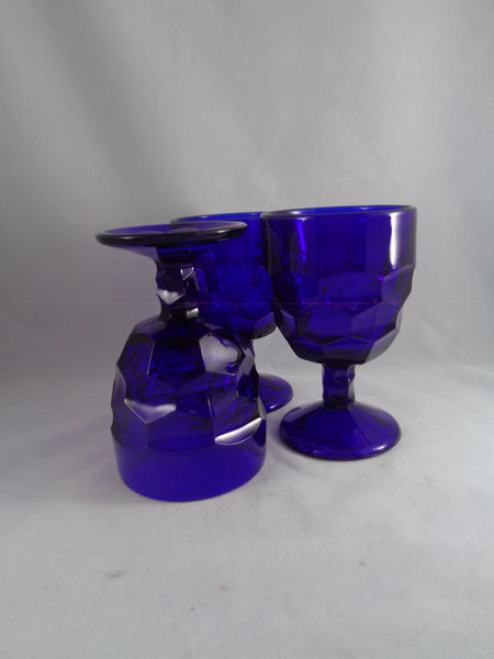 Viking Georgian Cobalt Goblets