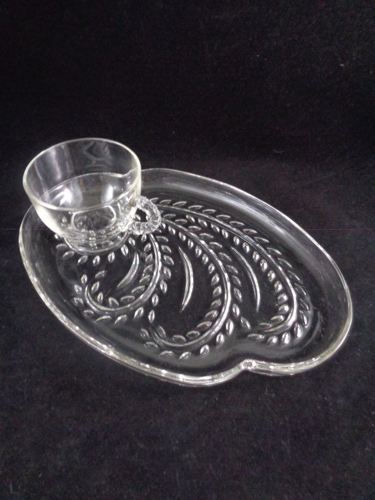 "Federal Glass ""Homestead"" Snack Plate Set  S/9 - The Other Alley"