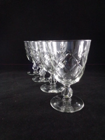 Flared Crystal Goblets  S/4
