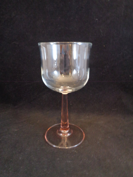 Pink Stemmed Wine Glasses   S/3 - The Other Alley