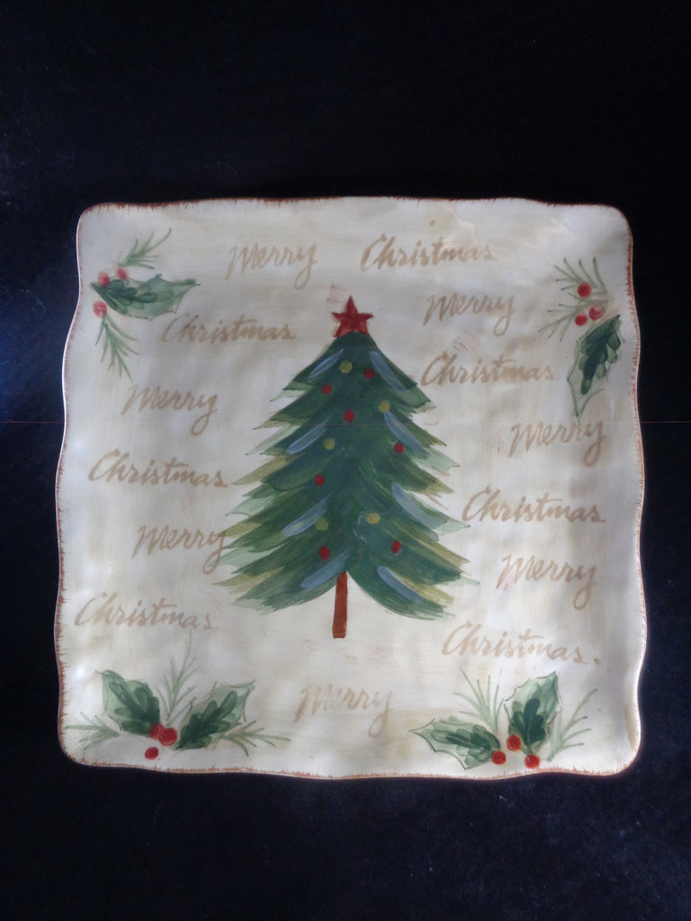 Christmas Tree Square Platter