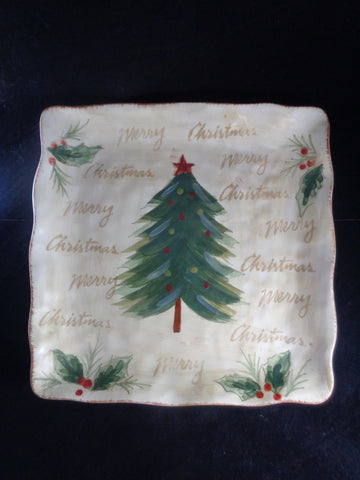 Christmas Tree Square Platter - The Other Alley