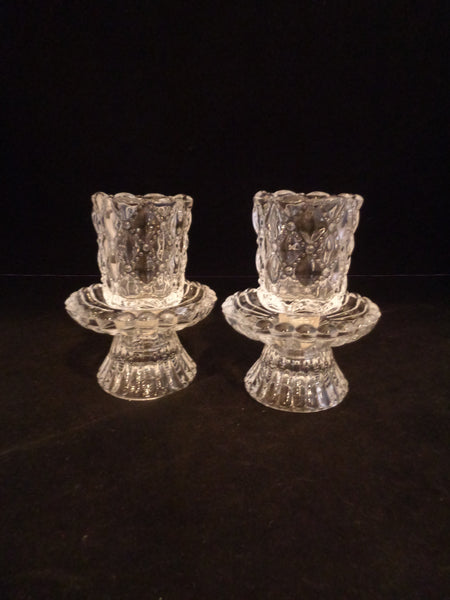 Partylite Quilted Crystal Votive Candle Holders  S/2 - The Other Alley