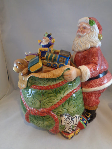 Fitz & Floyd Classic Old Fashioned Christmas Cookie Jar