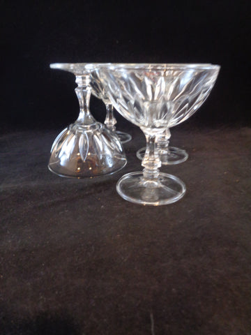 Vertical Cut Champagne Cocktail Glasses/Dessert Dishes  S/4 - The Other Alley