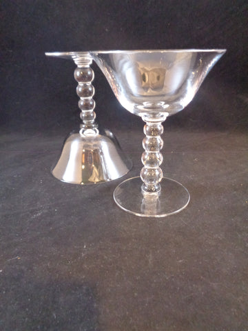Candlewick Ball Stem Martini/Champagne Glasses  S/2