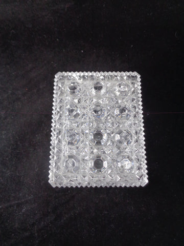 Rectangular Glass Trinket Box With Lid