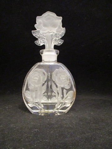 Rose Cut Perfume Bottle With Lid - The Other Alley