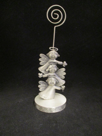 Angel Pewter Photo/Card Holder