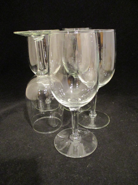 Glass Wine Goblets  S/5
