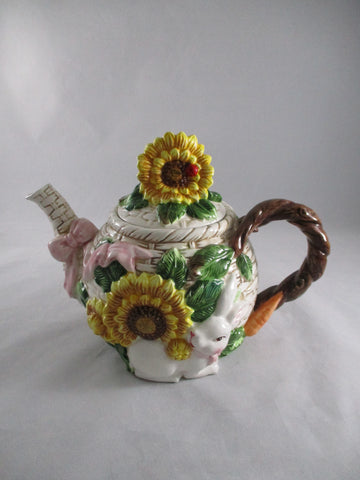Sunflower Ceramic Teapot