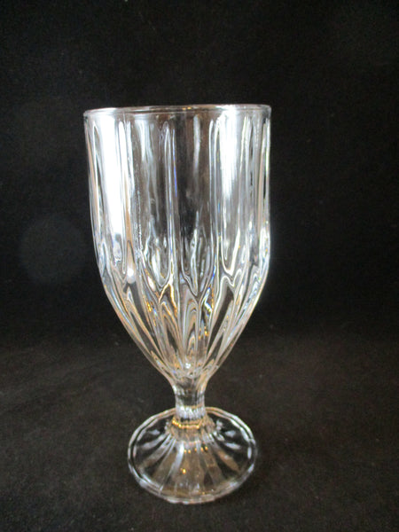 Crystal Goblets Vertical Cut Lines  S/4 - The Other Alley