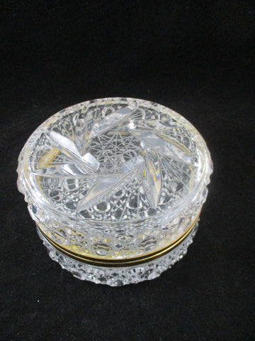 Glass Hinged Trinket Box With Solar Star