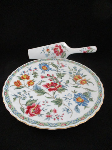 Smithsonian Institution French Wallpaper Cake Plate With Spatula