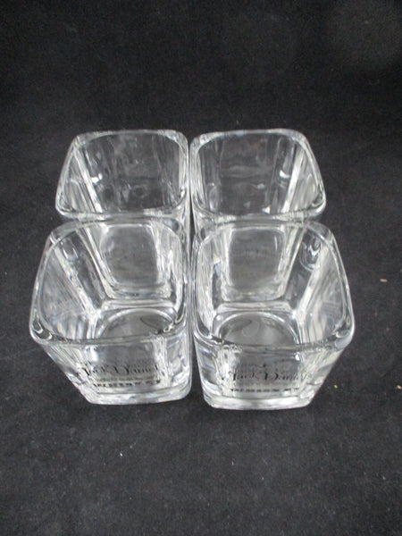 Jack Daniel's Square Whiskey Glasses  S/4 - The Other Alley