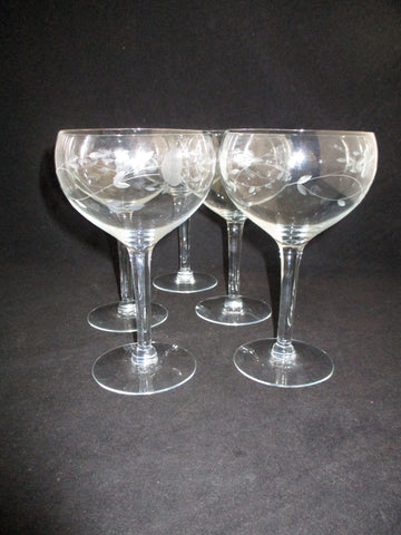 Princess House Balloon Goblets  S/5