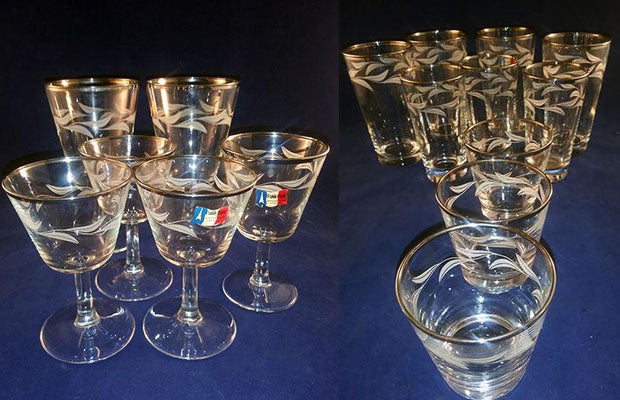 Cristal D Arques Paris Nights S/16 Mixed Grouping, Tumblers & Goblets - The Other Alley
