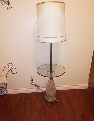 Pineapple Floor Lamp With Glass Table - The Other Alley