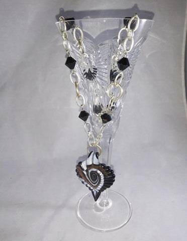 Glass Medallion And Bead Necklace - The Other Alley