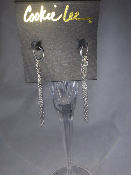 Cookie Lee Chain Earrings - The Other Alley