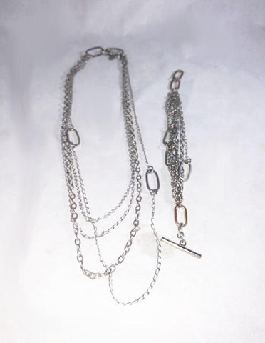 4 Strand Chain And Bracelet