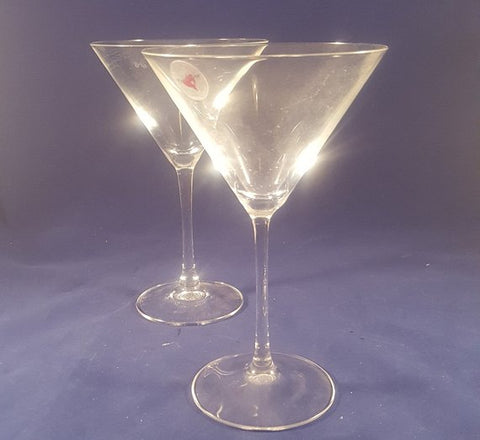 Cristal D Arques Durand Mendicino Martini Glasses  S/2 - The Other Alley