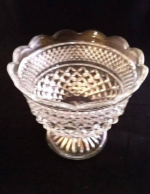 Large Lead Crystal Compote Bowl - The Other Alley