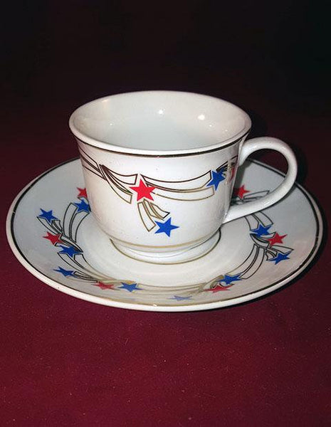 Red, White And Blue Star Tea Cup - The Other Alley