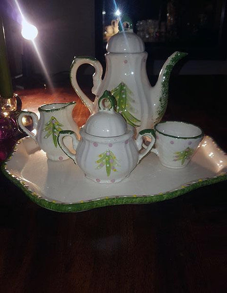 Unmarked Christmas Tea/Coffee Pot Set - The Other Alley