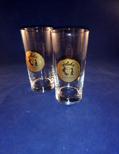 Authentic Brass Materials Statue Of Liberty Gold Centennial Glasses - The Other Alley