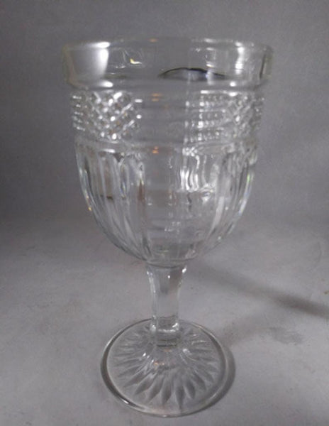 Libbey Glass Rock Shape Pressed Glass Goblets  S/3 - The Other Alley