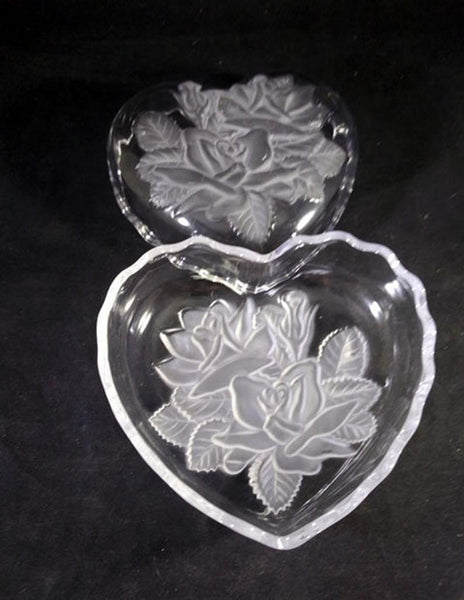 Heart Shaped Knick Knack, Candy , Nut, Soap Dish, Lidded Jar - The Other Alley
