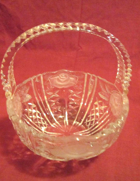 Cut Lead Crystal Basket - The Other Alley