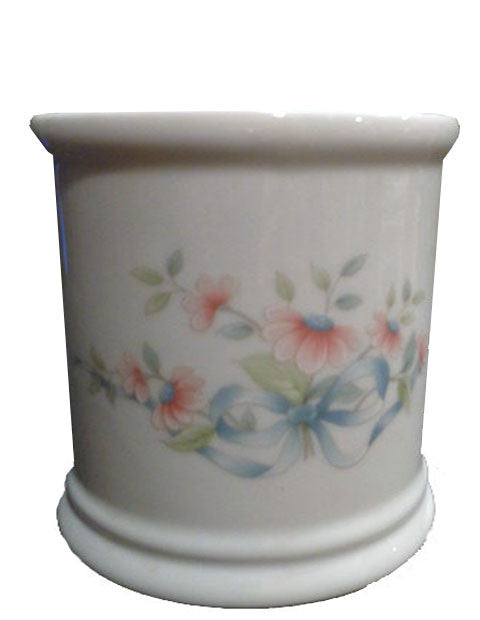 Princess House Heritage Floral Ribbon Container - The Other Alley