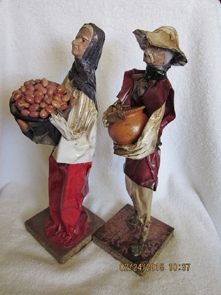 Paper Mache Mexican Folk Art, Vintage Couple - The Other Alley