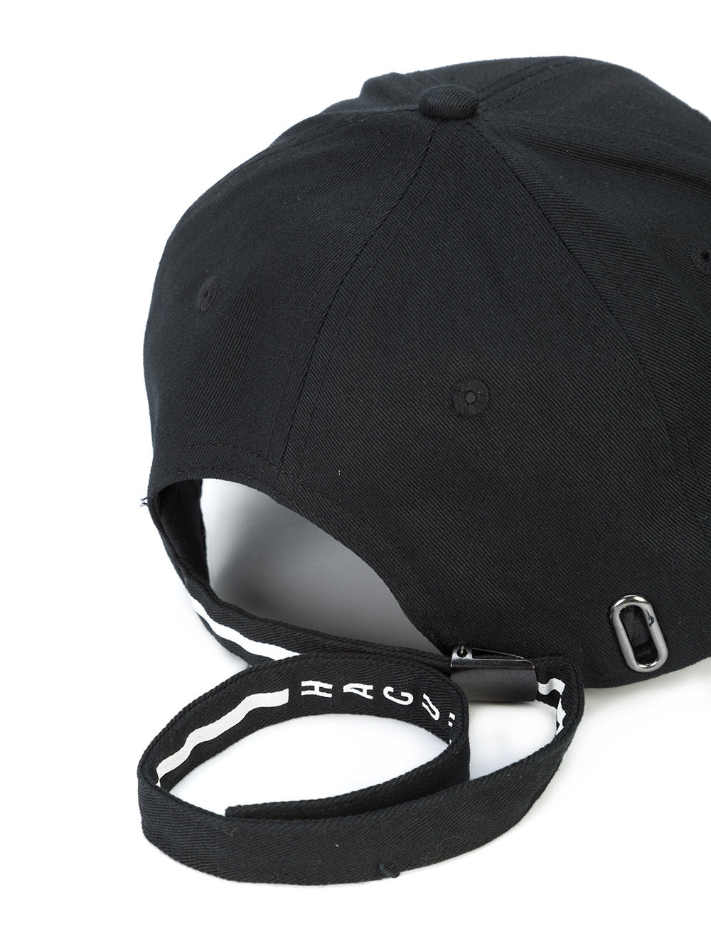 TRIANGLE PATCH BLACK LONG STRAP DAD HAT ... b78a432ed78