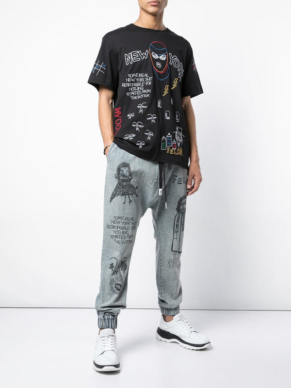 FELON DROP CROTCH WOVEN PANT