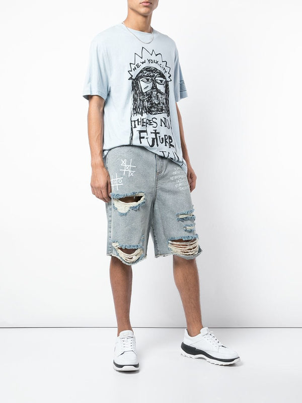 SOME REAL NEW YORK SHIT DENIM SHORT