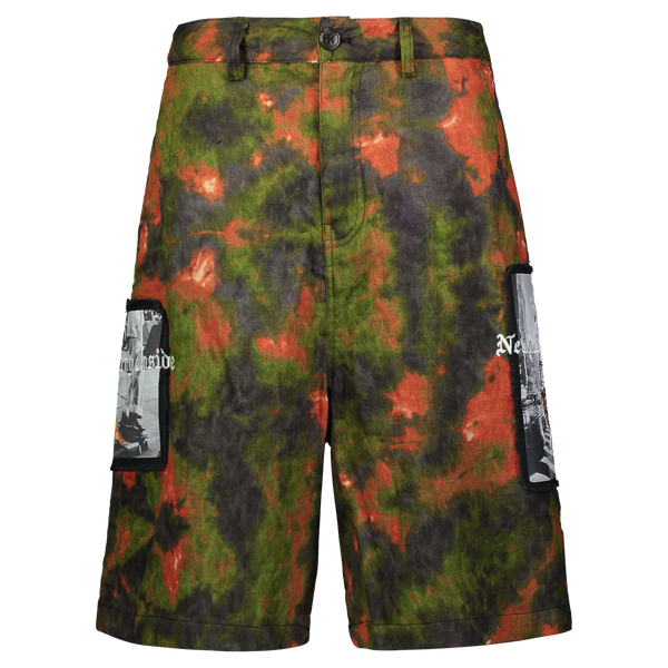 UP IN FLAMES SHORTS GREEN/ORANGE JACQUARD