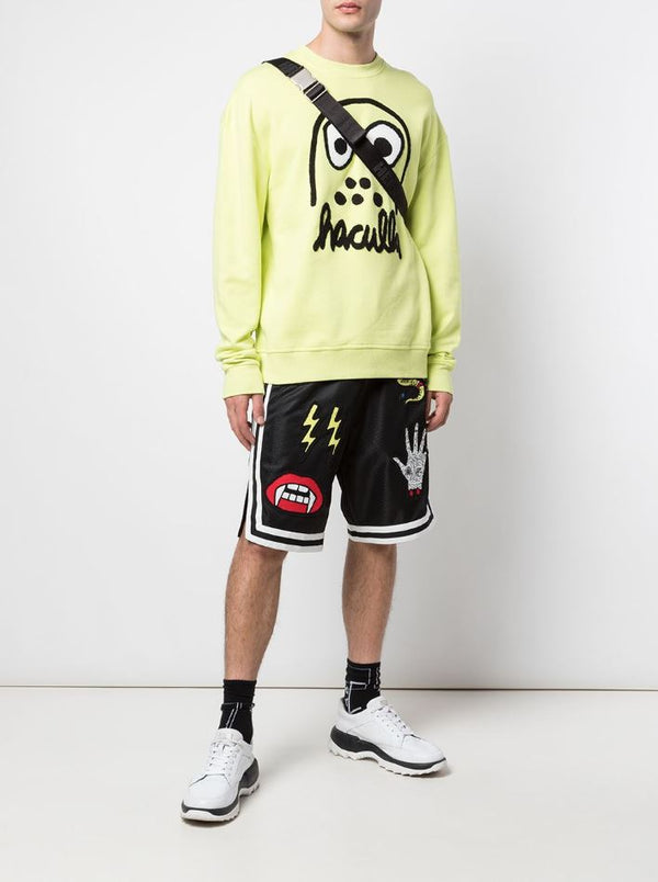 MONSTER DROP SHOULDER CREWNECK LIME