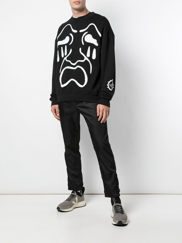 SCREAM DROP SHOULDER CREWNECK BLACK