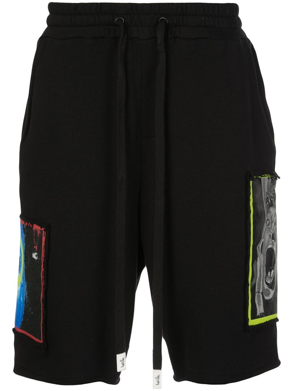 OVERLAP KNIT SHORT BLACK