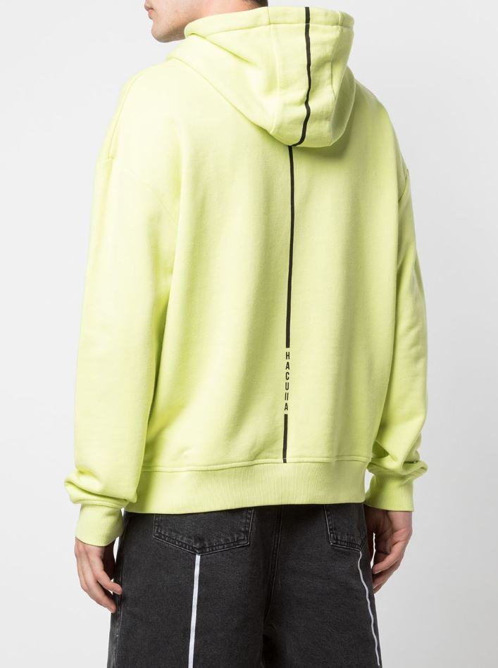GLOSS DROP SHOULDER HOODIE LIME