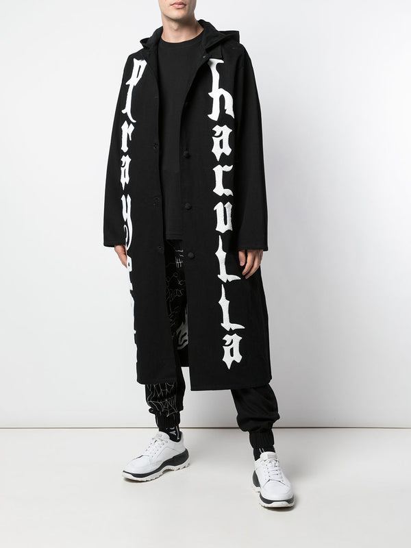MOTHER LONG HOODED JACKET BLACK