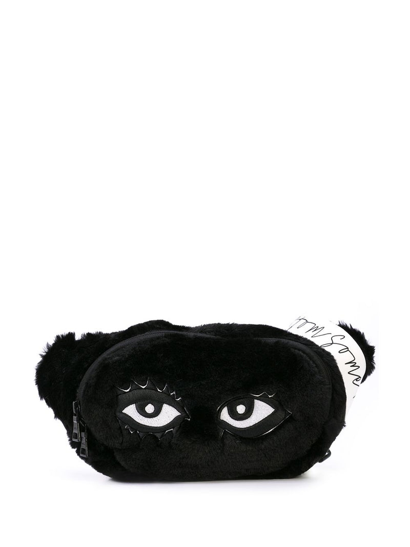SIGNATURE EYES FANNY PACK BLACK FUR